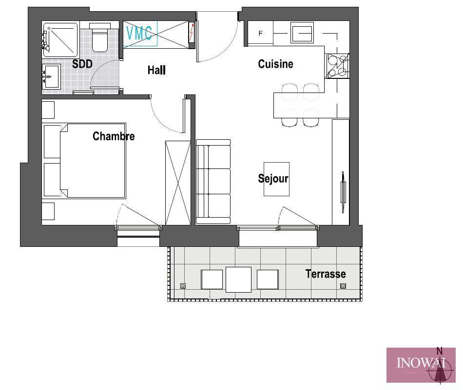 Studio 1 chambre - projet ROCKWOOD